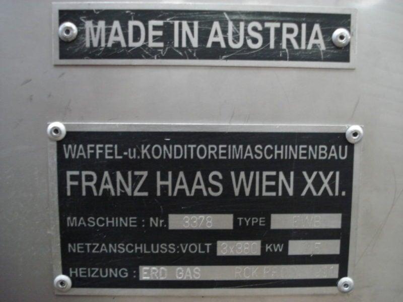 Piec do wypieku rurki waflowej Franz Haas EWB1/2