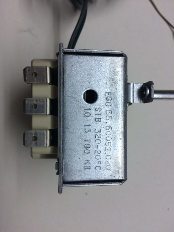 Regulator Temperatury EGO 55.60052.020 STB 320-20C T80 KII
