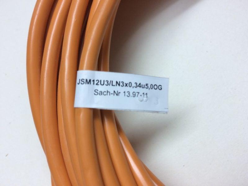 Przewód KLASCHKA JSM 12U3/LN3x0,34u5,0OG (Gniazdo 4 PIN)