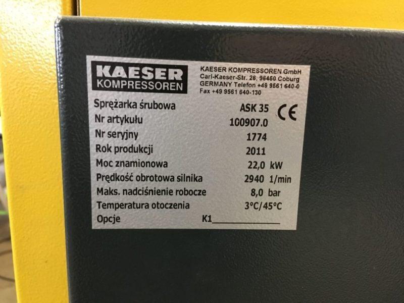Sprężarka Powietrza KAESER ASK 35 z osuszaczem TCH 35