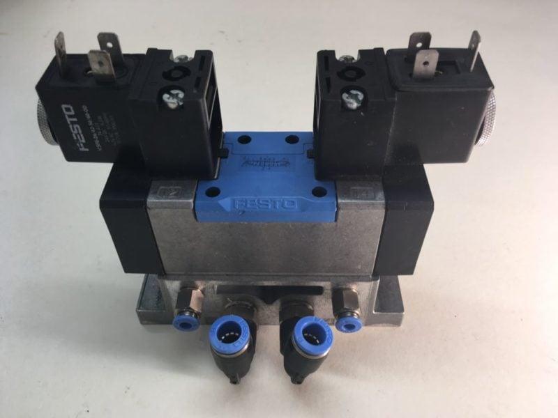 Elektrozawór FESTO MFH-5/3E-D-1-S C (152565) + Płyta VDMA 24345-A-1