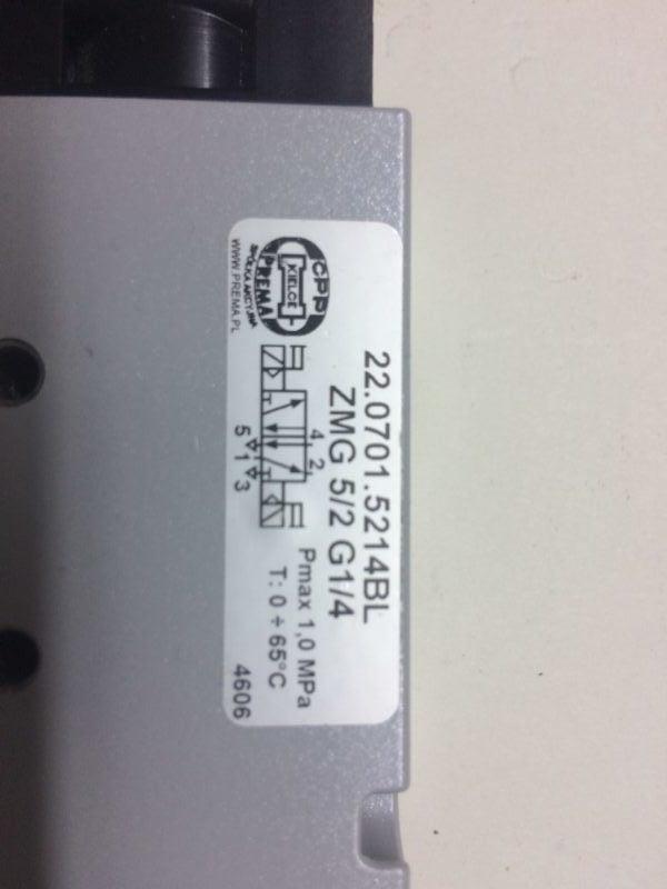 Elektrozawór PREMA KIELCE 22.0701.5214BL ZMG 5/2 G1/4 (24V)