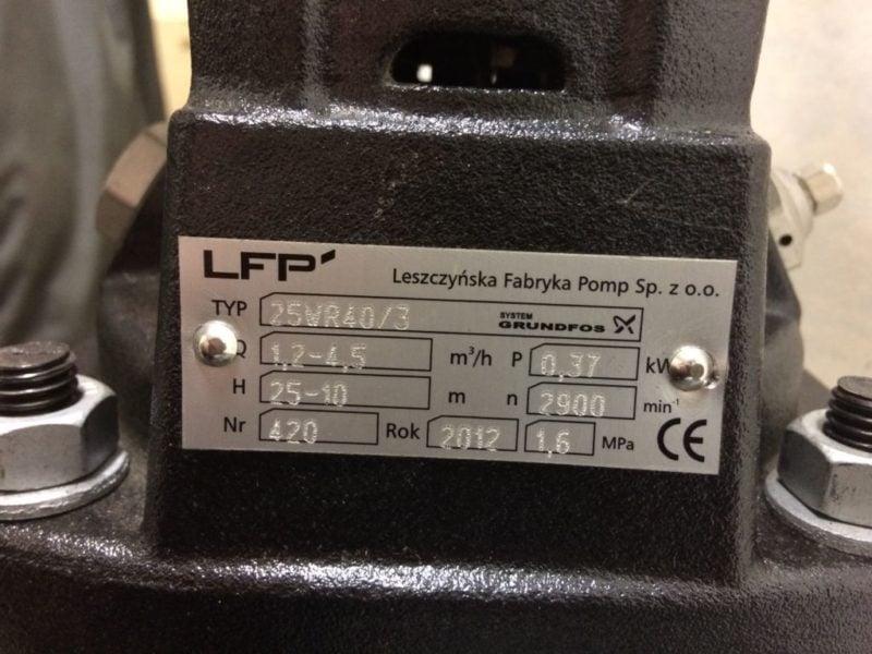 POMPA LPF/Grundfos 25WR40/3(0,37kW)