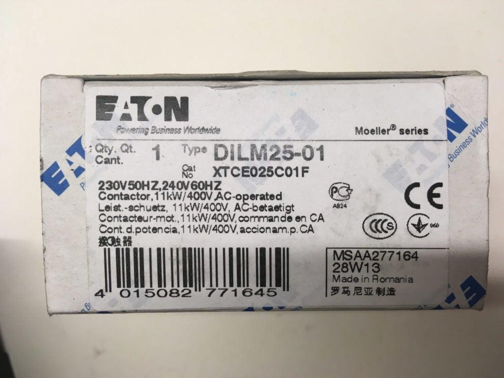 Stycznik mocy EATON DILM25-01 (XTCE025C01F)