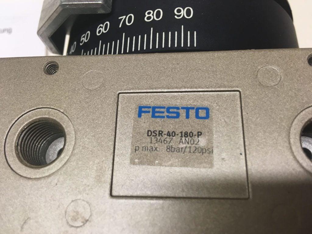 Napęd wahadłowy (Siłownik obrotowy) FESTO DSR-40-180-P (13467 AN02)
