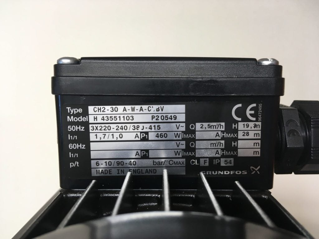 Pompa do wody GRUNDFOS CH2-30 A-V-A-CVBV (Model:43551103)