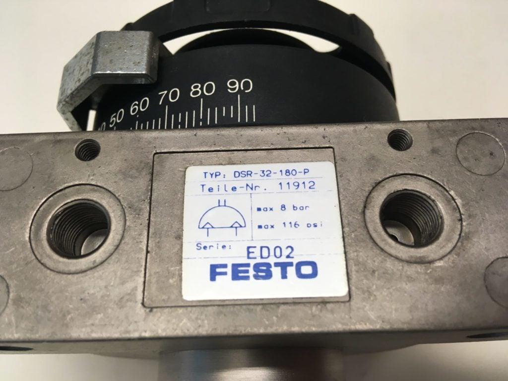 Napęd wahadłowy (Siłownik obrotowy) FESTO DSR-32-180-P (11912 ED02)