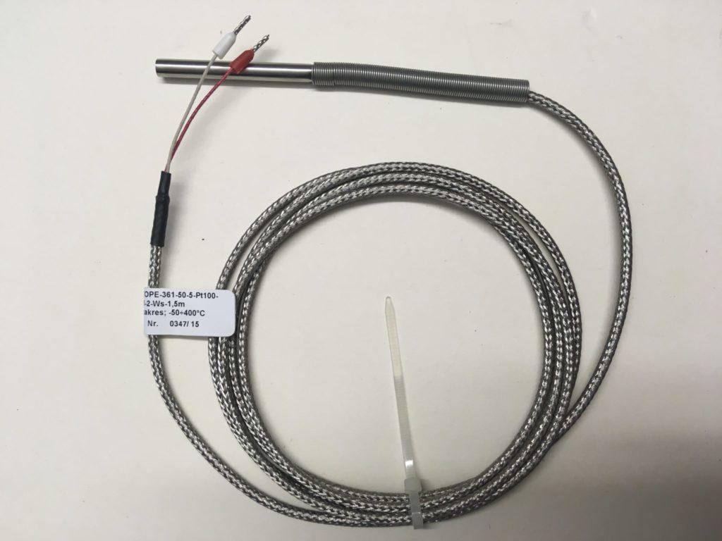 Czujnik Temperatury LIMATHERM TOPE-361-50-5-Pt100-B-2-Ws-1,5m (-50…400C) L=42mm fi=5mm