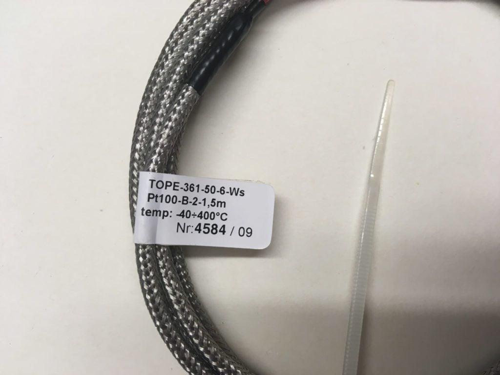 Czujnik Temperatury LIMATHERM TOPE-361-50-6-Ws-Pt100-B-2-1,5m (-40…400C) L=42mm fi=6mm