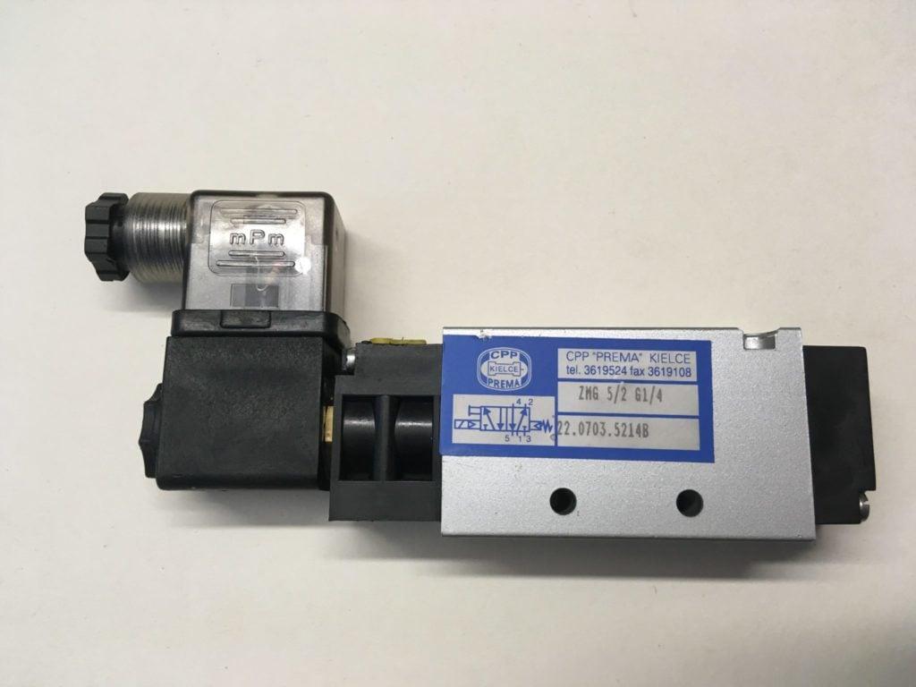 Elektrozawór PREMA KIELCE ZMG 5/2 G1/4 (24V) 22.0703.5214B + Wyspa (Używany)