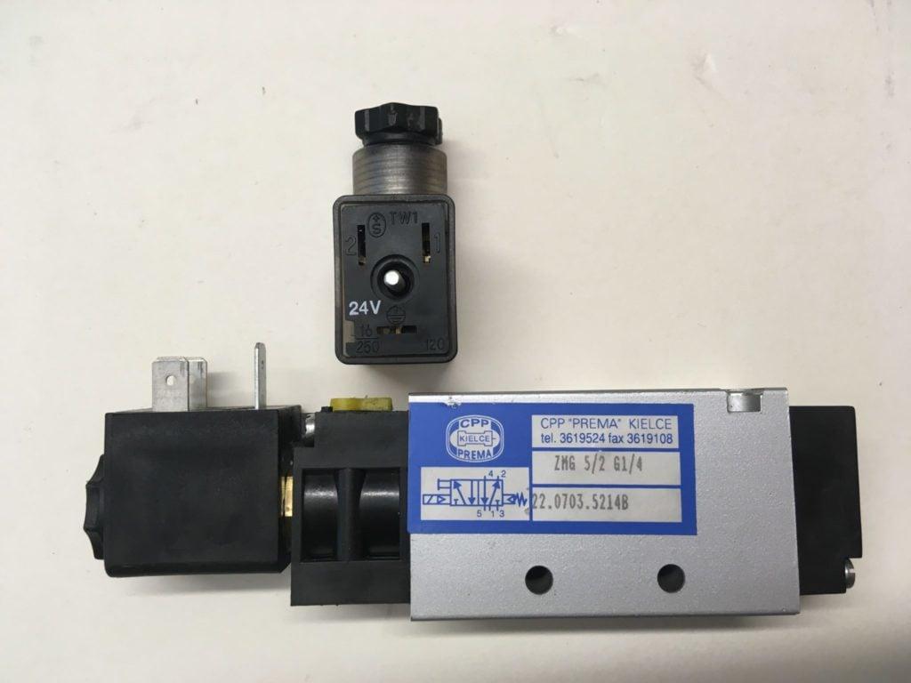 Elektrozawór PREMA KIELCE ZMG 5/2 G1/4 (24V) 22.0703.5214B   Wyspa (Używany)