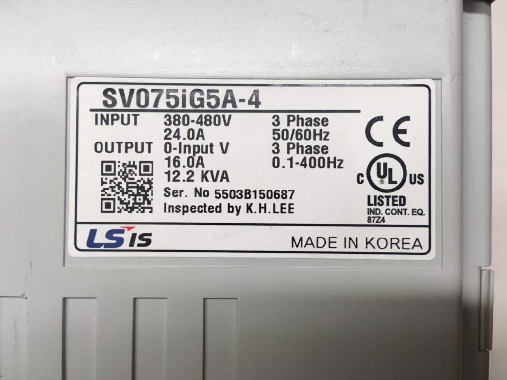 FALOWNIK LG LS SV075iG5A-4 (12,2 kW  16,0A)