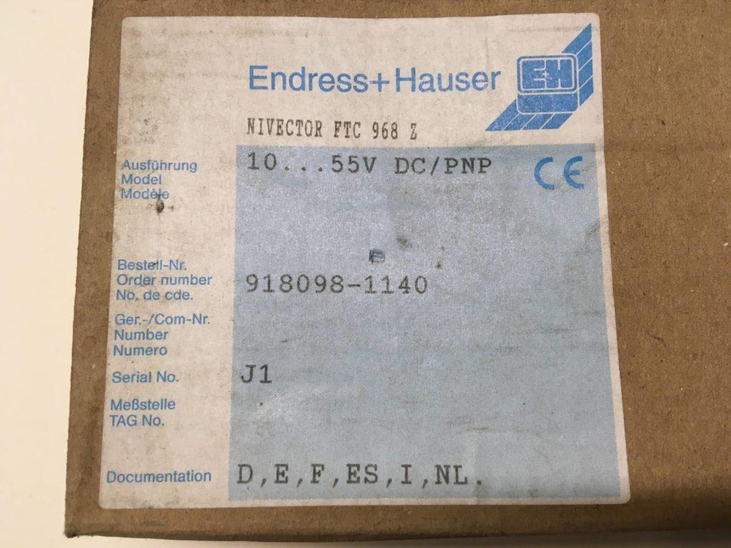 Pojemnościowy sygnalizator poziomu ENDRESS HAUSER Nivector FTC 968Z DC