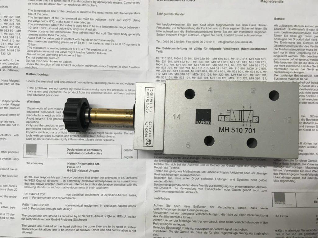 Elektrozawór HAFNER MH 510 701 EEX (Wykonanie ATEX)