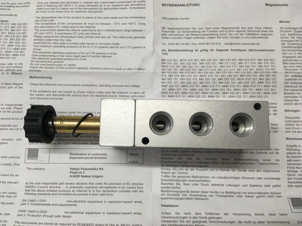 Elektrozawór HAFNER MH 510 501 G EEX (Wykonanie ATEX)