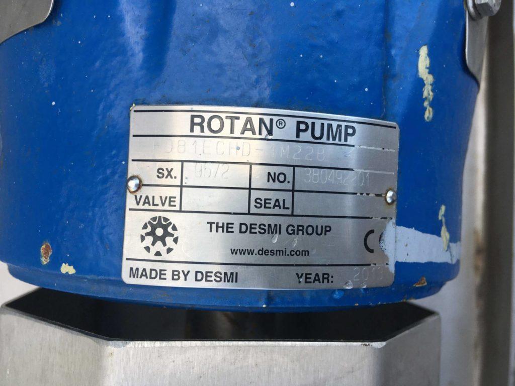 Pompa do czekolady ROTAN DESMI HD 81 ECHD-1M22B