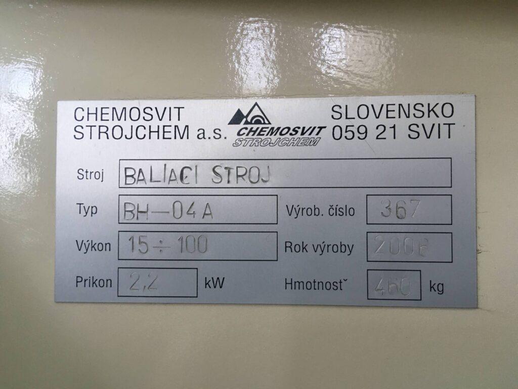 Flowpack CHEMOSVIT STROJCHEM BH-04A
